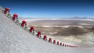 Νέο απίστευτο παγκόσμιο ρεκόρ ταχύτητας με κοινό ποδήλατο (pics&vid)