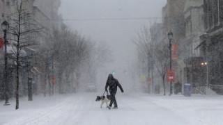 Χιονοθύελλα σαρώνει την Νέα Υόρκη - Βγήκαν με παγοπέδιλα στους δρόμους (vid)