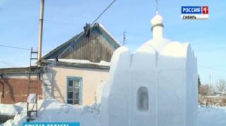 Έχτισε Εκκλησία από χιόνι στη Σιβηρία (vid)