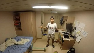 Πώς είναι να ζεις σε καμπίνα πλοίου εν ώρα τρικυμίας (vid)