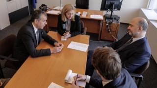 Τι συζήτησαν Θεοδωράκης - Μοσκοβισί στο Στρασβούργο