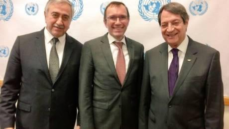 Κυπριακό: Ευχαριστημένος από την πρόοδο των συνομιλιών ο Άιντε