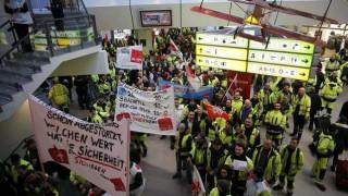 Ακυρώσεις πτήσεων λόγω απεργίας εργαζομένων στα αεροδρόμια του Βερολίνου (pics)