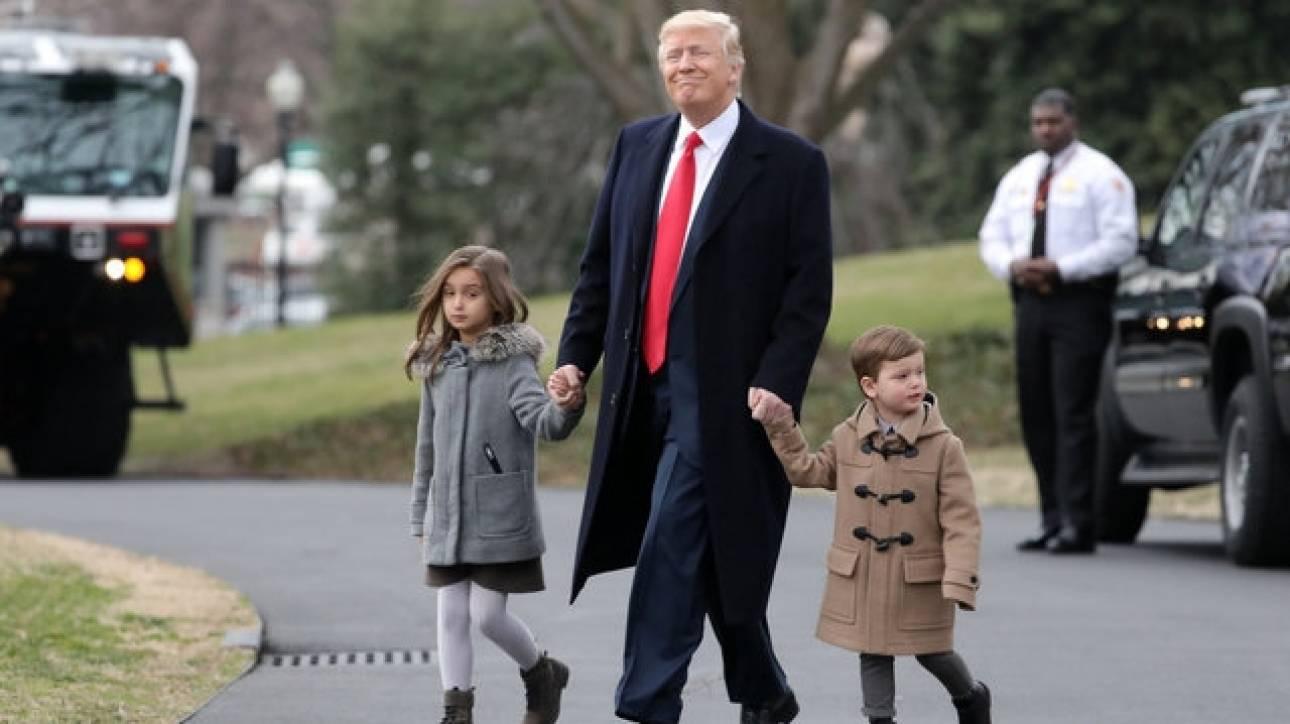 Αυτός είναι ο απολαυστικός εγγονός του Τραμπ (pics)