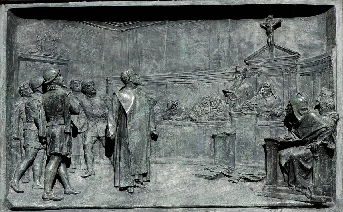 Relief Bruno Campo dei Fiori n1