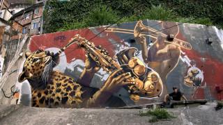 Kiptoe: Φτιάχνοντας γκράφιτι στη μεγαλύτερη φαβέλα του Ρίο (Pics)