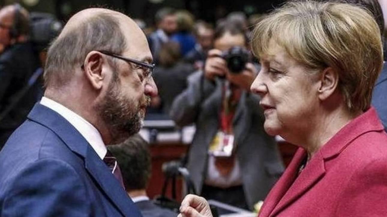Γερμανία: Ισοπαλία Μέρκελ-Σουλτς σε νέα δημοσκόπηση