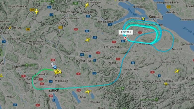 Φωτιά στον αέρα έπιασε αεροπλάνο της Aeroflot