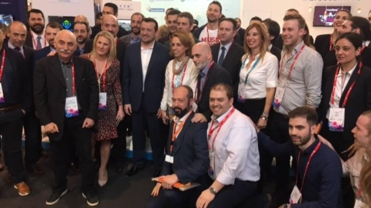 MWC 2017: Ο Νίκος Παππάς εγκαινίασε το ελληνικό περίπτερο