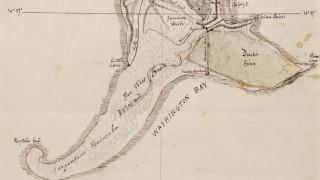 Ο χάρτης της Μυστηριώδους Νήσου του Ιούλιου Βερν στο σφυρί
