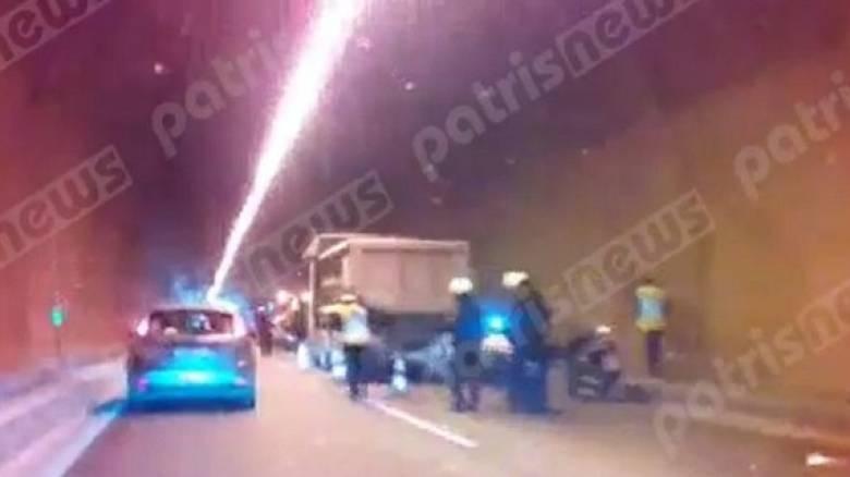 Τροχαίο στην Πατρών – Πύργου: Σύγκρουση ΙΧ με φορτηγό (pic&vid)
