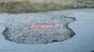 Πάτρα: Λακούβες στον κεντρικό δρόμο των ΤΕΙ (pics)