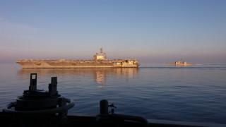 Ελληνική φρεγάτα κάνει συνεκπαίδευση με το USS George Bush