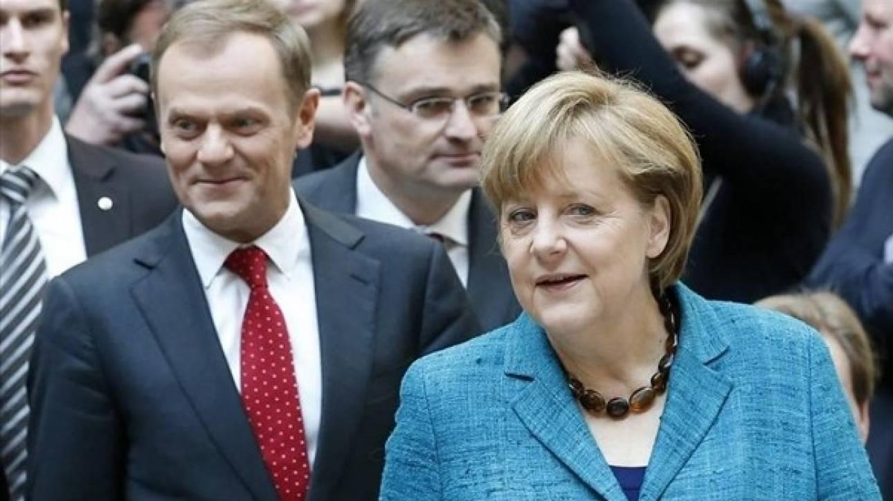 Η Άνγκελα Μέρκελ στηρίζει τον Ντόναλντ Τουσκ, η Πολωνία όμως απειλεί