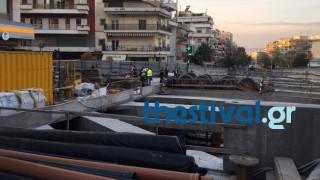 Επιχείρηση απεγκλωβισμού εργαζομένου στο μετρό Θεσσαλονίκης