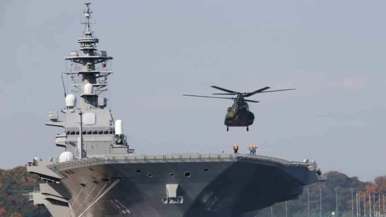 Επίδειξη δύναμης: Η Ιαπωνία βγάζει το επιβλητικό Izumo στην Νότια Σινική Θάλασσα (pics)