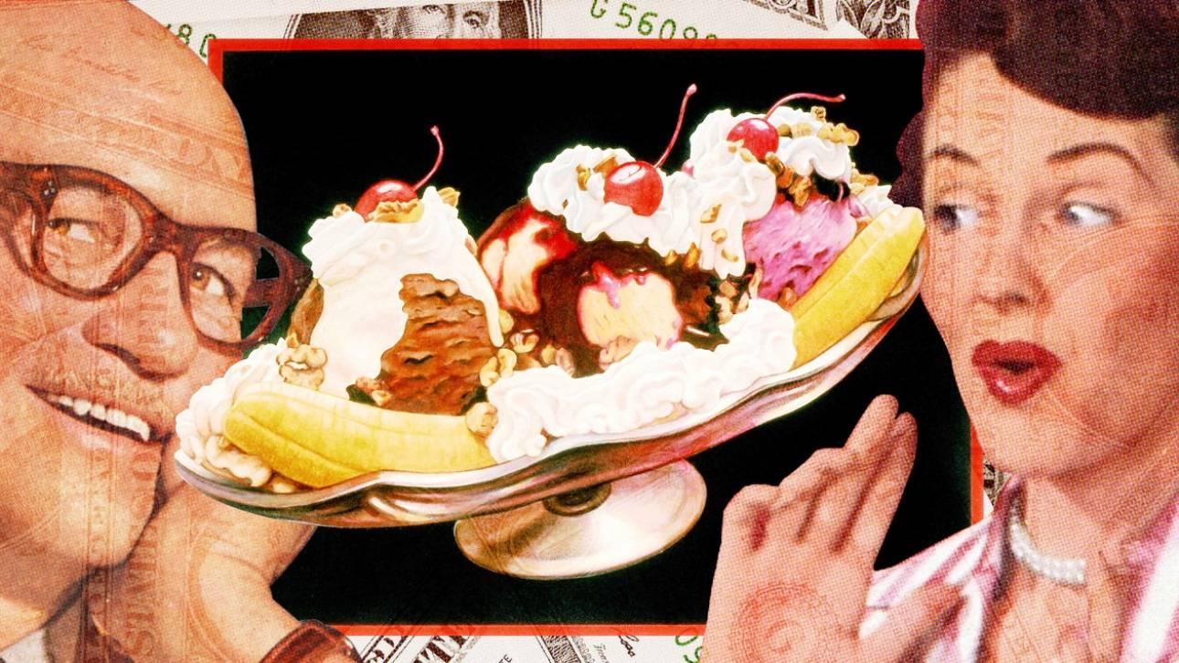 Banana split: Το επιδόρπιο της χαμένης αθωότητας έγινε άγαλμα