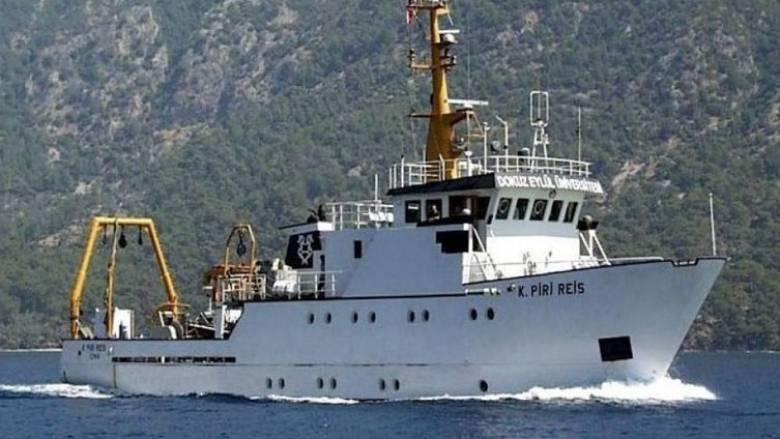 To τουρκικό «Πίρι Ρέις» πλέει νότια του Καστελλόριζου