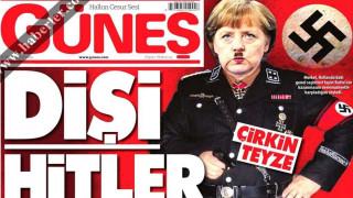 Η Άνγκελα Μέρκελ ως Αδόλφος Χίτλερ σε πρωτοσέλιδο τουρκικής εφημερίδας (pic)