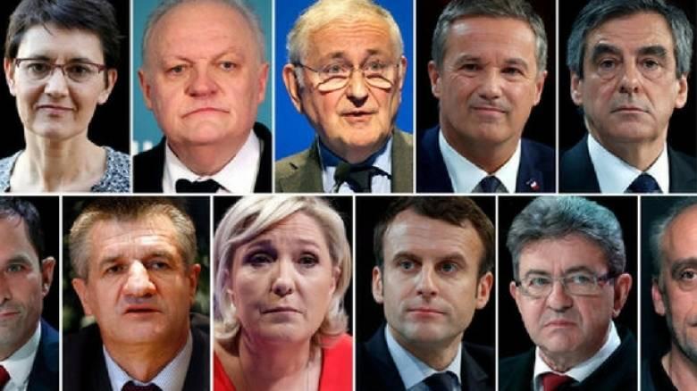 Εκλογές Γαλλία 2017: Αυτοί είναι όλοι οι υποψήφιοι
