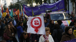 Μήνυμα κατά του φασισμού στο αντιρατσιστικό συλλαλητήριο (pics)