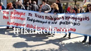 Τρίκαλα: Με συνθήματα και διαμαρτυρίες υποδέχθηκαν τη Ράνια Αντωνοπούλου (pics&vids)