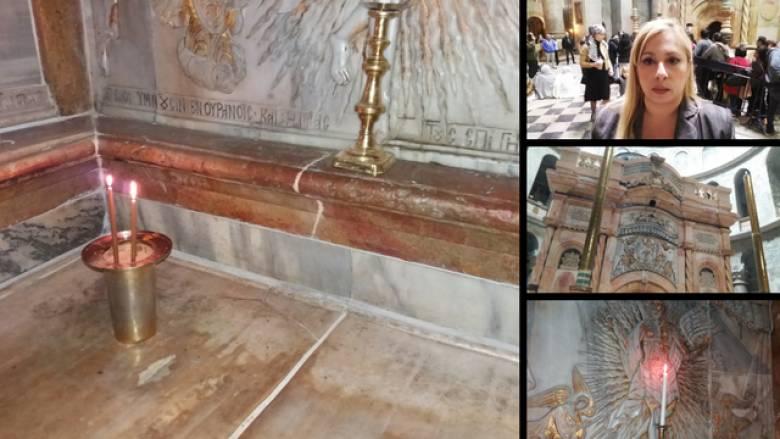 Aποκλειστικές εικόνες από το εσωτερικό του Παναγίου Τάφου