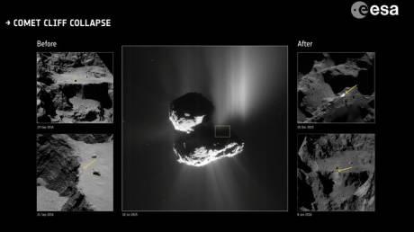 Η Ροζέτα «μαρτύρησε» το διαρκές «face-lifting» ενός κομήτη