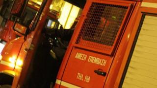 Θεσσαλονίκη: Πυρκαγιά πάνω από την περιφερειακή οδό στο ύψος του Ευόσμου