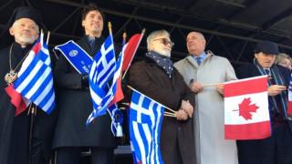 «Ζήτω η Ελλάς» φώναζε ο Καναδός πρωθυπουργός κρατώντας την ελληνική σημαία (pics&vid)