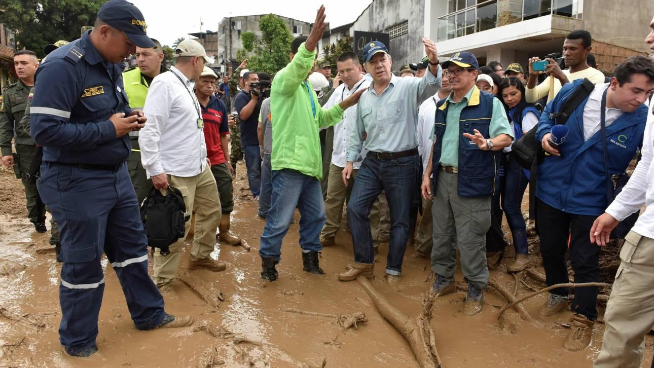 Κολομβία: Εκατοντάδες νεκροί κάτω από τόνους λάσπης (pics)