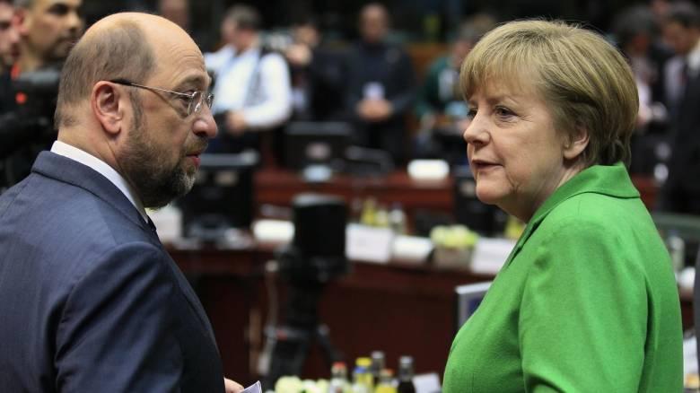 Απόλυτη ισοψηφία για Μέρκελ και Σουλτς σε νέα δημοσκόπηση