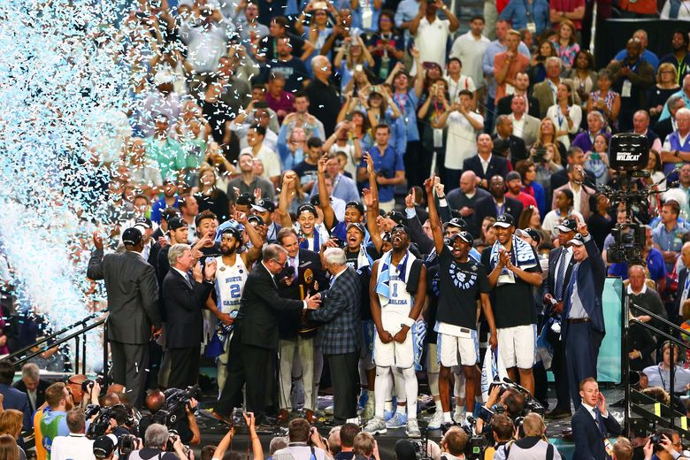 2017 04 04T035918Z 91842527 NOCID RTRMADP 3 NCAA BASKETBALL FINAL FOUR CHAMPIONSHIP GAME GONZAGA VS NORTH CAROLINA