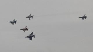 Η πτήση των μαχητικών πάνω από την Ακρόπολη