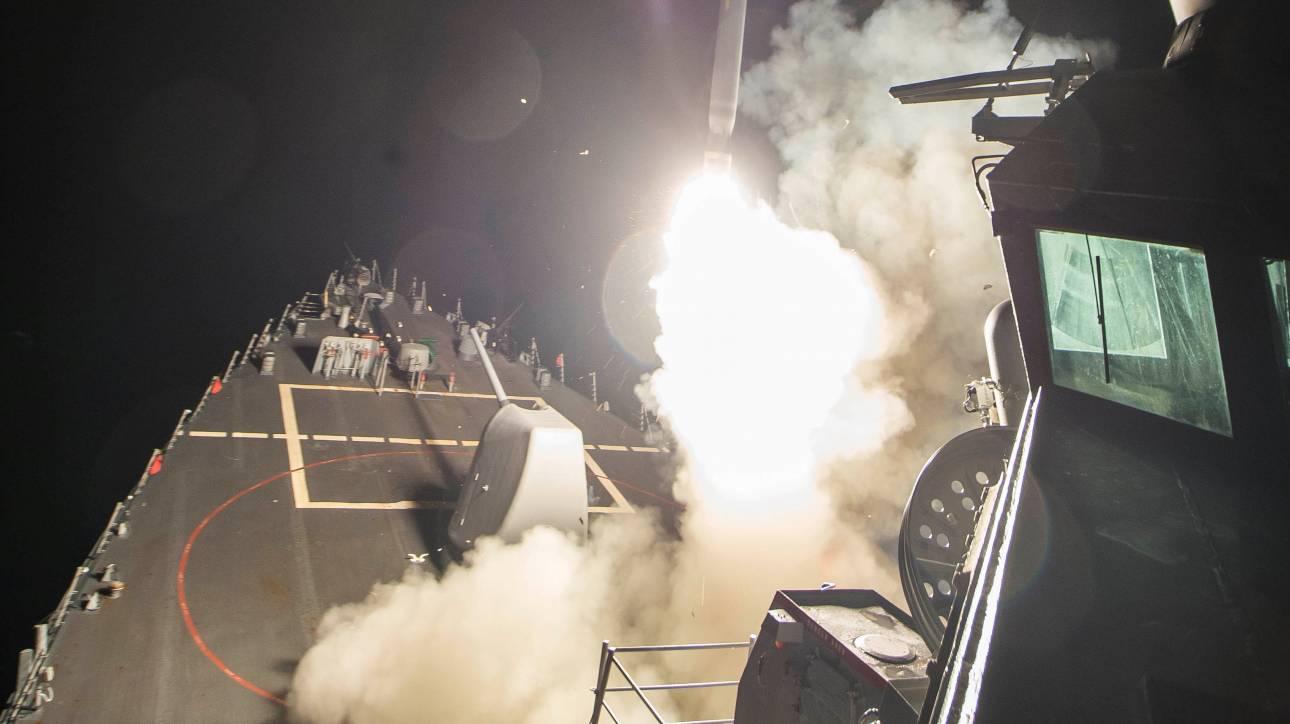 Επίθεση ΗΠΑ κατά Συρίας με 59 πυραύλους Τόμαχοκ