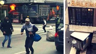 Φορτηγό έπεσε πάνω σε πεζούς στη Στοκχόλμη