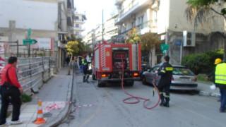 Διαρροή φυσικού αερίου στο κέντρο της Λάρισας (pics)
