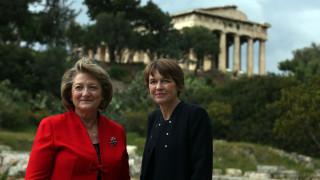 Δύο πρώτες κυρίες στην αρχαία αγορά (pics)