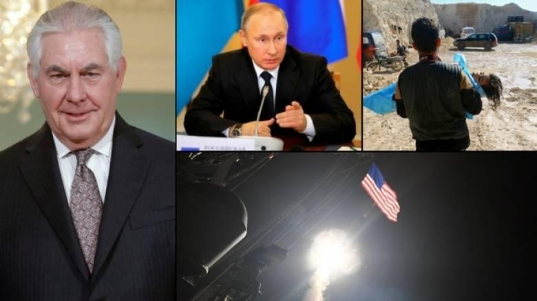 ΗΠΑ-Ρωσία: Διπλωματικό κρας τεστ η επίσκεψη Τίλερσον στη Μόσχα  (pics&vids)