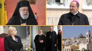 Σύρος: Ο Ορθόδοξος Mητροπολίτης και ο Καθολικός Επίσκοπος «εξομολογούνται» στο CNN Greece (vid)