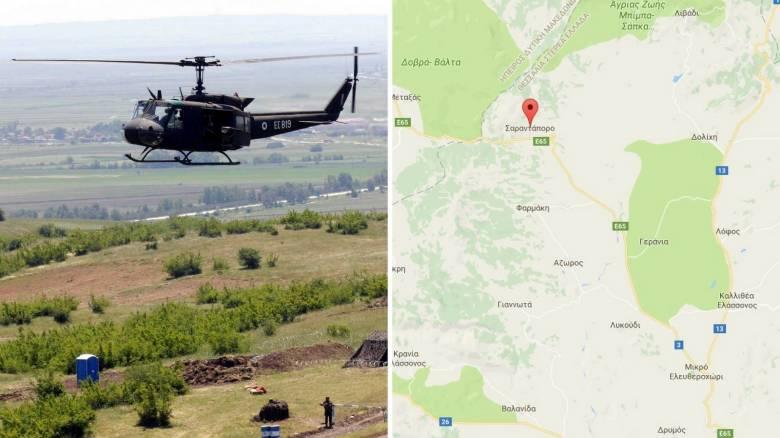 Στο Σαραντάπορο κατέπεσε το στρατιωτικό ελικόπτερο
