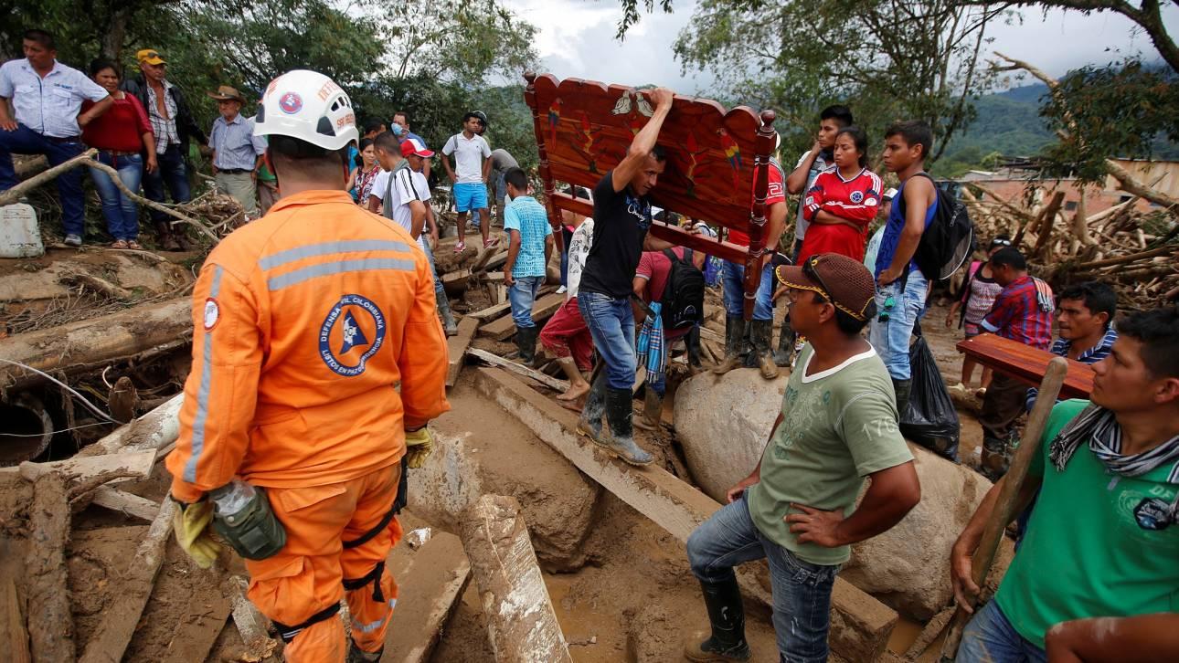 Στους 19 οι νεκροί από τις νέες κατολισθήσεις στην Κολομβία