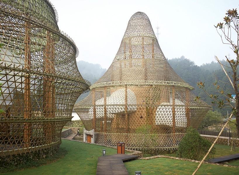 international bamboo architecture biennale xitou village china designboom 818 818x600