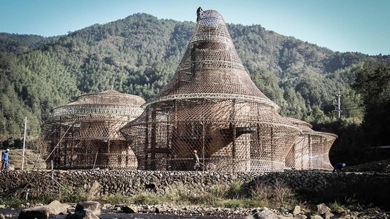 Η Γερμανίδα αρχιτέκτονας Άννα Χέρινγκερ χτίζει με πλεχτό μπαμπού (pics)