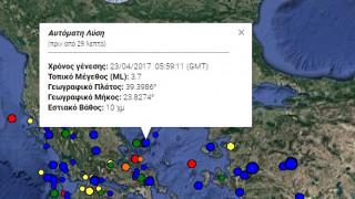 Σεισμός στην Αλόννησο