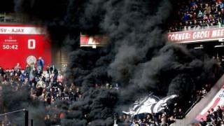 Δεκάδες τραυματίες στον αγώνα Αϊντχόφεν – Άγιαξ από ρίψη καπνογόνου (pics&vid)