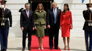 Στον Λευκό Οίκο ο πρόεδρος της Αργεντινής – Τι είπε ο Τραμπ για τη Βενεζουέλα (pics)