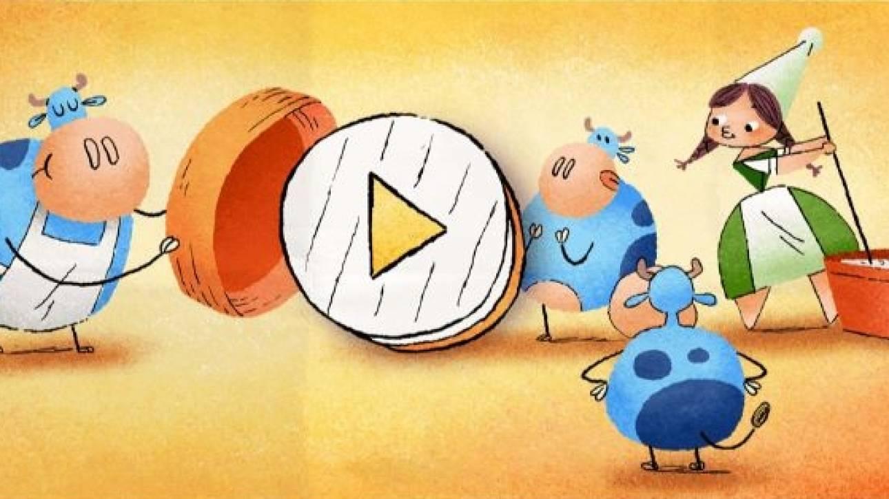 Η Google τιμά την Μαρί Χαρέλ, την δημιουργό του τυριού Καμαμπέρ, με το σημερινό της Doodle
