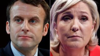 Γαλλία: Πρώτος ο Μακρόν - Μειώνει τη διαφορά η Λεπέν
