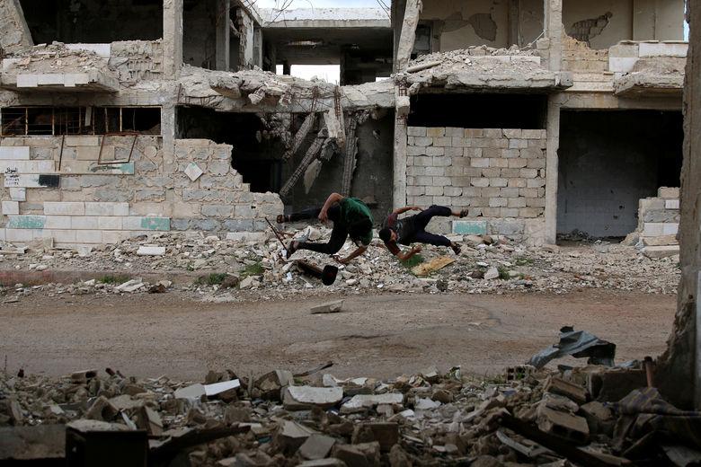 2017 04 28T140032Z 518829911 RC1377F26160 RTRMADP 3 MIDEAST CRISIS SYRIA PARKOUR